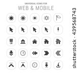 25 universal icon set. simple... | Shutterstock .eps vector #439568743