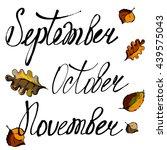 the leaf fall. september ... | Shutterstock .eps vector #439575043