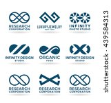 set of various infinity symbols ... | Shutterstock .eps vector #439584313