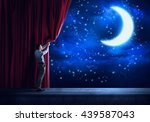Night Sky Behind Curtain