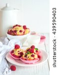 muffins cupcakes with... | Shutterstock . vector #439590403