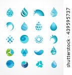 set of water  wave and drop... | Shutterstock .eps vector #439595737
