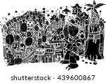 black vector of abstract shape...