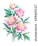 watercolor hand paint bouquet... | Shutterstock . vector #439605127