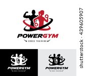 power gym logo  fitness logo... | Shutterstock .eps vector #439605907