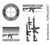 shooting club emblem  labels ... | Shutterstock .eps vector #439613557