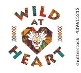 wild at heart. vector...