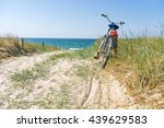 bicycle in the dune | Shutterstock . vector #439629583