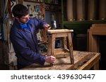 portrait of carpenter wearing... | Shutterstock . vector #439630447