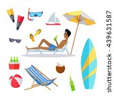 accessories for the summer... | Shutterstock .eps vector #439631587