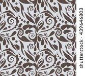 seamless ornate pattern of hand ... | Shutterstock .eps vector #439646803