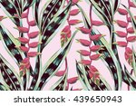 beautiful seamless vector... | Shutterstock .eps vector #439650943