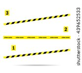 place tape  yellow incident | Shutterstock .eps vector #439652533