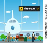 airport   view on airplane... | Shutterstock . vector #439655143