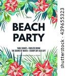 bright hawaiian design with... | Shutterstock .eps vector #439655323