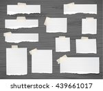 set of pieces ripped white... | Shutterstock .eps vector #439661017