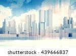 abstract contemporary city... | Shutterstock . vector #439666837
