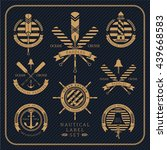 vintage nautical label set on... | Shutterstock .eps vector #439668583