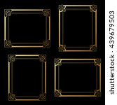 vector golden frames on black... | Shutterstock .eps vector #439679503