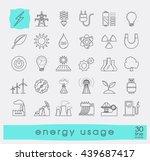 set of line energy icons. | Shutterstock .eps vector #439687417