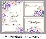vintage delicate invitation... | Shutterstock . vector #439693177