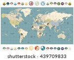 world map old colors... | Shutterstock .eps vector #439709833