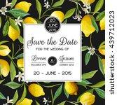 invitation congratulation card  ... | Shutterstock .eps vector #439712023