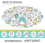 back to school concept... | Shutterstock .eps vector #439733947