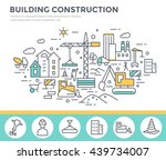 building construction concept... | Shutterstock .eps vector #439734007