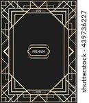 vector geometric frame in art... | Shutterstock .eps vector #439736227