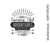 camping club adventures vintage ... | Shutterstock .eps vector #439739293