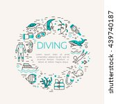 diving icons set. underwater... | Shutterstock .eps vector #439740187