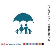 family insurance icon | Shutterstock .eps vector #439743427