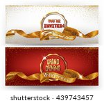 grand opening cards with... | Shutterstock .eps vector #439743457