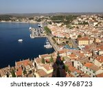aerial view of rovinj old town. ... | Shutterstock . vector #439768723