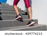 Stairs Climbing Running Woman...