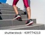 stairs climbing running woman... | Shutterstock . vector #439774213