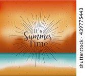 summer time design  | Shutterstock .eps vector #439775443