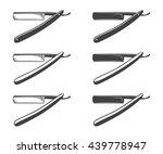 straight razor vector isolated... | Shutterstock .eps vector #439778947