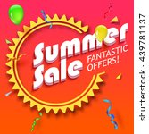 summer sale advertisement ... | Shutterstock .eps vector #439781137