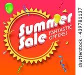 summer sale advertisement ... | Shutterstock .eps vector #439781137