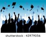 graduation in silhouette | Shutterstock . vector #43979056