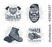 hand drawn vintage badges set... | Shutterstock .eps vector #439801357
