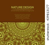 vector nature decor for your... | Shutterstock .eps vector #439813177