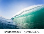 wave swimming ocean wave... | Shutterstock . vector #439830373