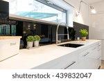 shot of a sink in a modern... | Shutterstock . vector #439832047