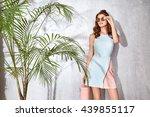 hot summer girl beauty sexy... | Shutterstock . vector #439855117