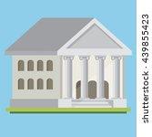 bank illustration. flat vector. | Shutterstock .eps vector #439855423