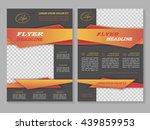 vector flyer template design.... | Shutterstock .eps vector #439859953
