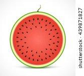 watermelon slice isolated on... | Shutterstock .eps vector #439871827